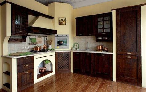 tendaggi per cucina rustica cucine in stile arte povera foto design mag