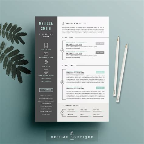 Resume Template The 3pk by Resume Template 3pk Cv Template Cover By Theresumeboutique
