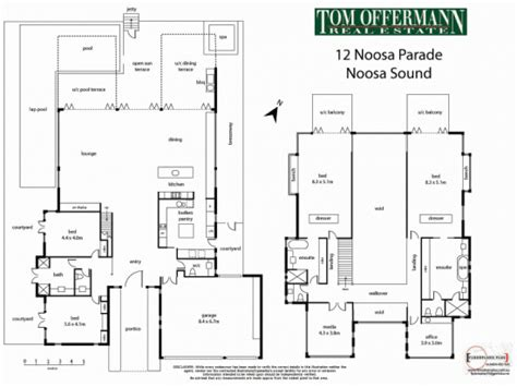 Villa Floor Plans Australia | world of architecture waterfront modern villa for perfect