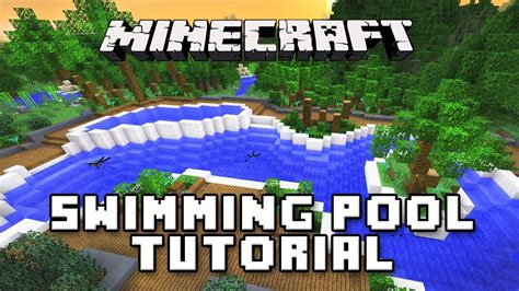 how to build a pool house minecraft tutorial how to make a swimming pool modern