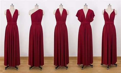 maxi infinity dress burgundy maxi infinity dress convertible bridesmaid dress