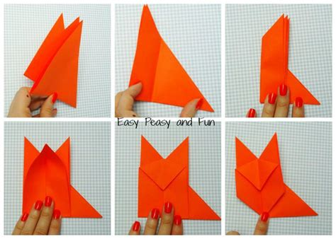 Easy Origami Fox - origami fox origami for easy peasy and