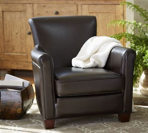 pottery barn leather armchair irving leather armchair pottery barn