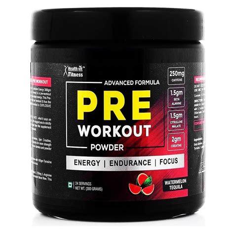 healthvit fitness pre workout explosive energy 300gm