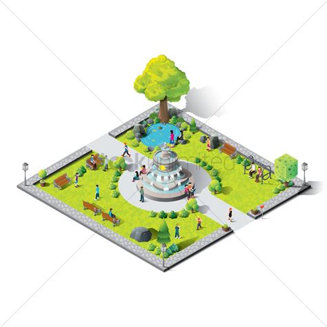 Draw House Plans To Scale Free isometric amusement park vector image 1539172