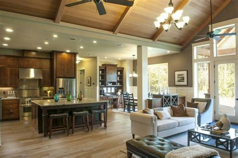 open floor plans with vaulted ceilings mascord house plan 22157aa room kitchen house plans and