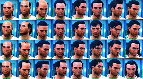 gallery of fallout 3 hair styles fallout 4 list of all hair and beard customization