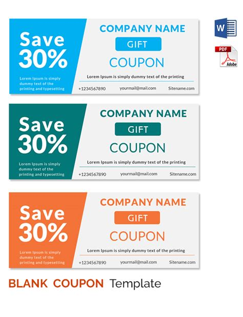 coupon cards template word coupon template word template business