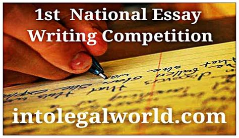 National Essay Writing Competition by National Essay Writing Competition Organized By Into World Live