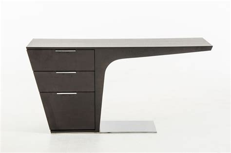 modern desk with modrest bismarck modern wenge office desk