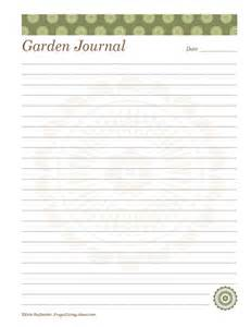garden journal template best photos of free printable journal paper free