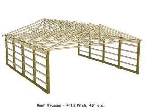 barn roof truss pole barn roof truss design