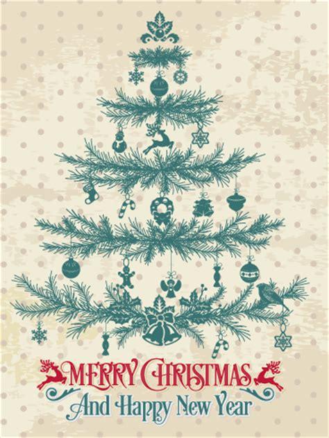 classic christmas tree card birthday greeting cards  davia