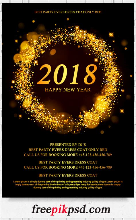 new year design psd free 2018 new year flyer psd template free pik psd
