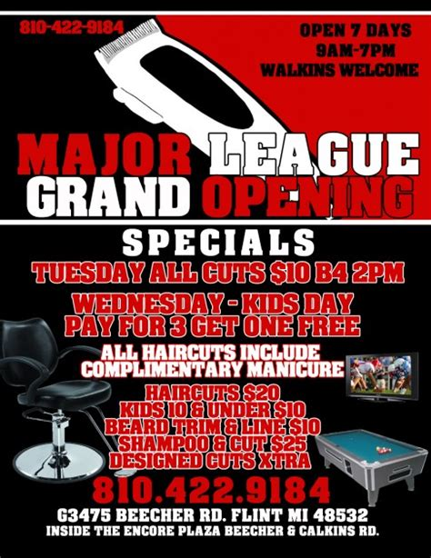 major league barbershop grand opening with club 93 7
