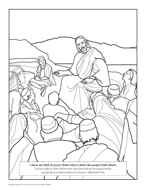 Coloring Page Matthew 5 by Matthew 5 13 16 Coloring Page Coloring Pages