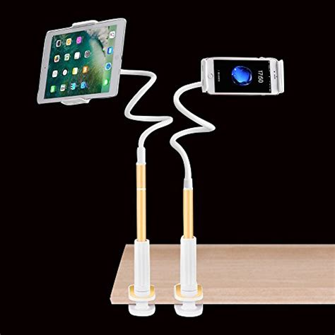 Lazy Tablet Phone Holder Duo cell phone clip holder cl mount tablet stand gooseneck lazy bracket for iphone
