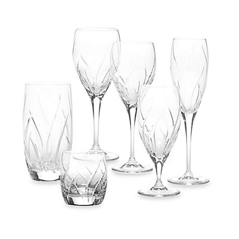 mikasa crystal barware mikasa agena crystal stemware and barware bed bath beyond
