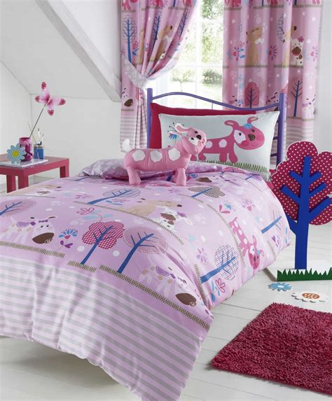 puppy bedding set pink pooch puppy duvet cover set bedding curtains cushion reduced
