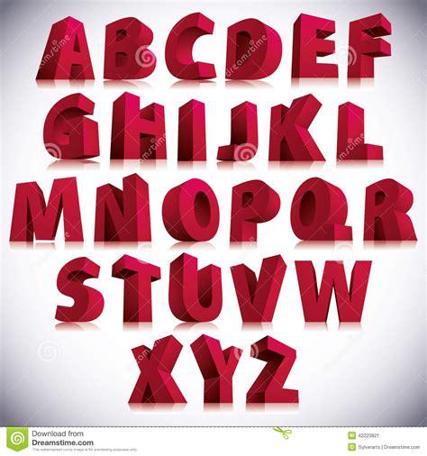 imagenes en 3d letras 3d fuente colocaci 243 n roja grande de las letras