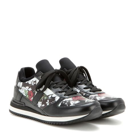 dolce gabana sneakers dolce gabbana floral leather and fabric sneakers in