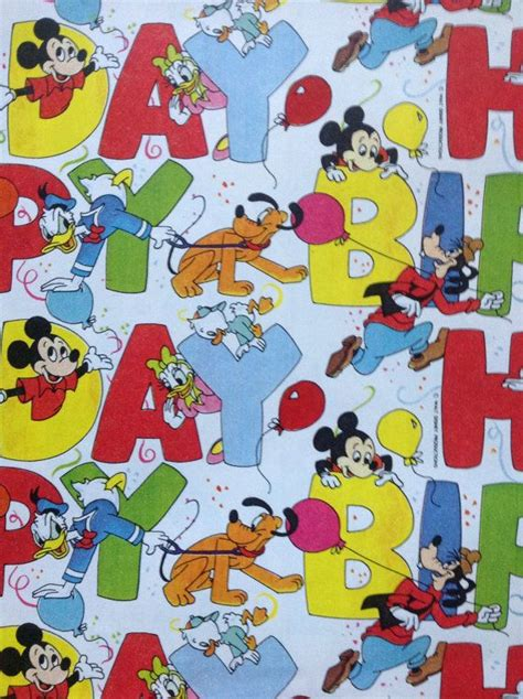 mickey mouse gift wrap vintage walt disney mickey mouse happy birthday wrapping