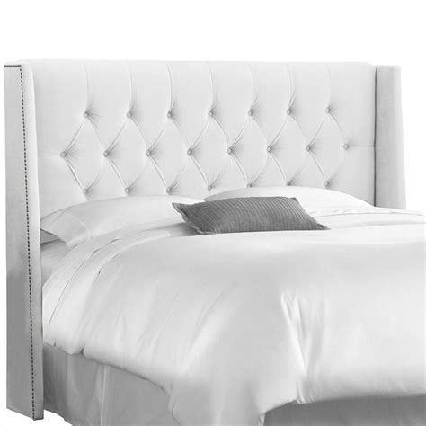 White Tufted Headboard Skyline Furniture Tufted Panel Headboard In White 40xnb Pwvlvwht