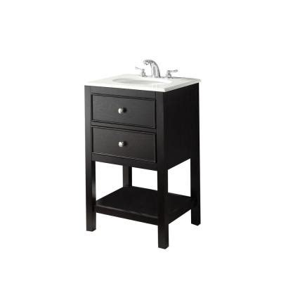 Bathroom Vanities Wilmington Nc by Simpli Home Wilmington 21 In Vanity In Black With Marble