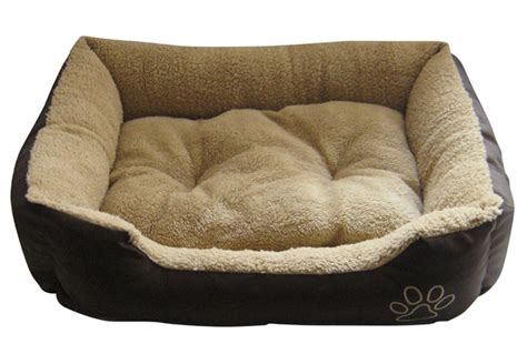 medium dog bed pet bed dog cat puppy kitten soft fleece 2 colours