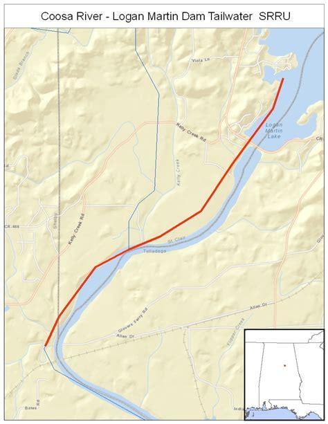 coosa river map coosa river logan martin dam tailwater