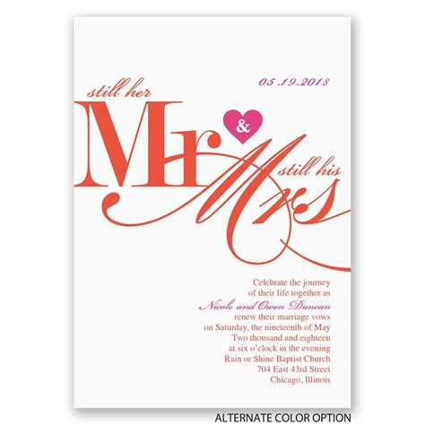 Wedding Vows Renewal Ceremony by Still Together Vow Renewal Invitation Invitations By