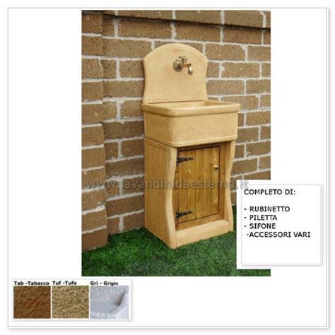 lavabi da giardino lavabo da esterno nonna nerina aq9500 con mobile