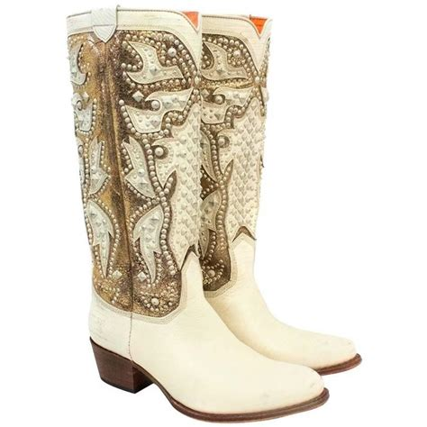 gold cowboy boots frye gold and studded cowboy boots for sale at