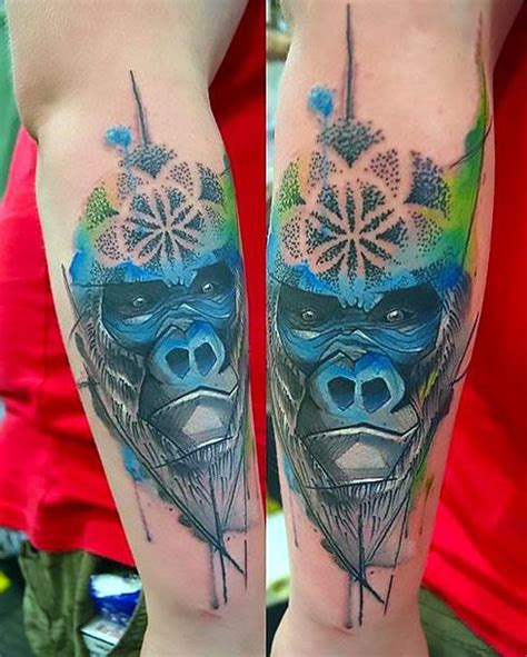 blue gorilla tattoo blue gorilla idea