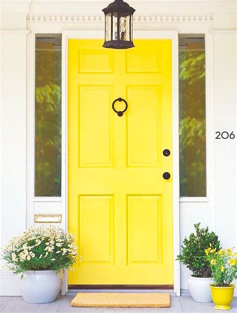 Yellow Front Door Feng Shui Great Feng Shui Front Door Colors To Admire And Learn From