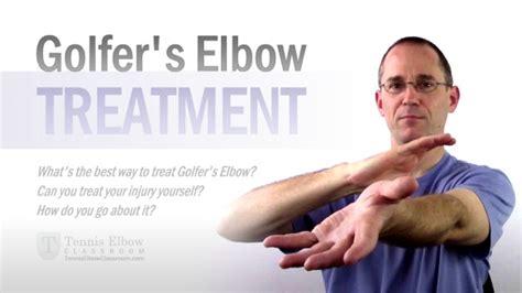 best treatment for tennis golfer s treatment