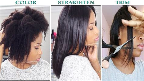 14 Tips For Straightening Hair by How To Color Straighten Trim Hair