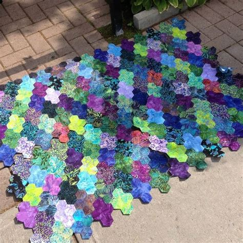 Hexagon Patchwork Blanket - 962 best images about quilts hexies diamonds and epp