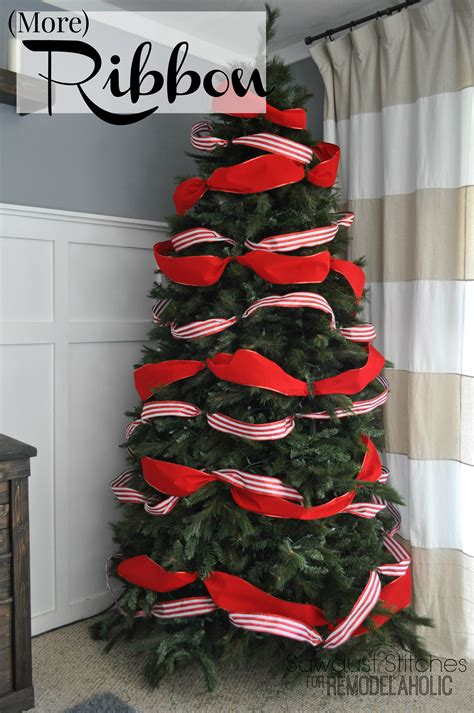 christmas tree with ribbon pictures remodelaholic how to decorate a tree a designer look from the dollar store