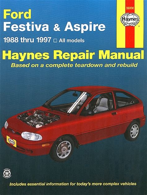 how to download repair manuals 1992 ford festiva security system ford festiva aspire repair manual 1988 1997 haynes 36030