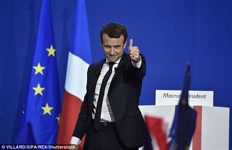 emmanuel macron investment banker stock markets soar as macron wins first stage of election