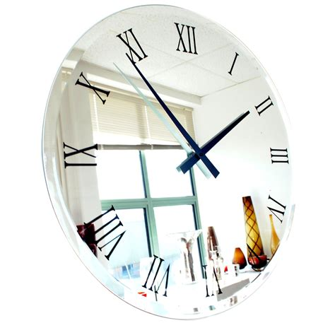 Clocks And Mirrors Roco Verre Bevelled Coloured Mirror Clock