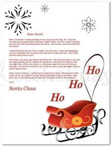 Free Santa Reply Letter Template Printable Red Sleigh Santa Letter Template