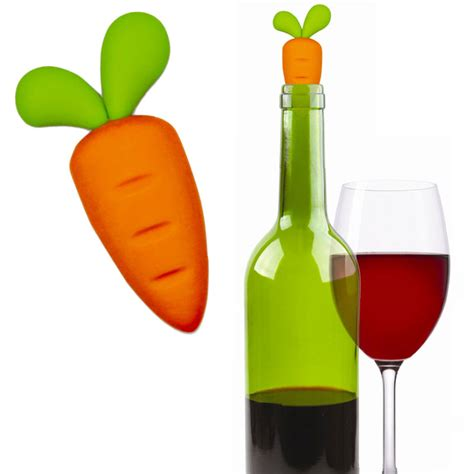 Wine Chagne Bottle Stopper carrot wine bottle stopper buy gifts
