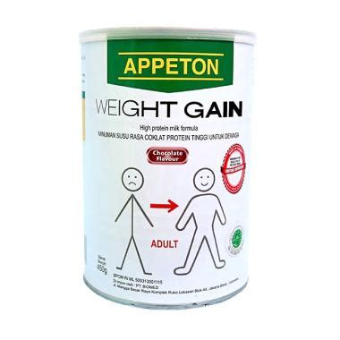 Appeton Weight Gain Kotak jual appeton weight gain minuman coklat 450 g