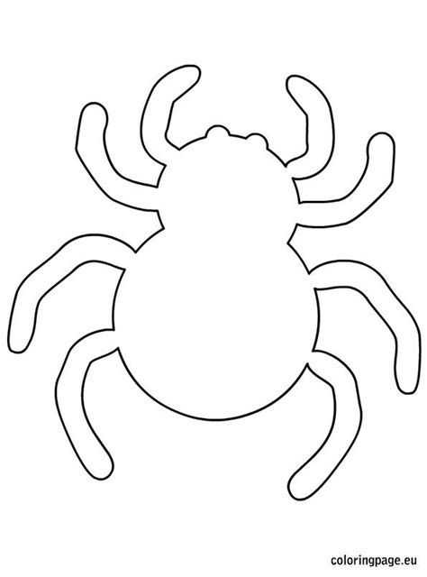 Spider Template spider writing paper coloring pages