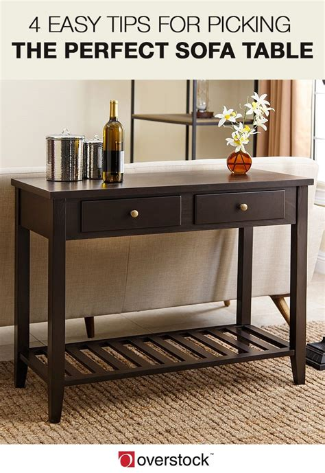 4 Easy Tips For Picking The Perfect Sofa Table Overstock Com Sofa Table Overstock