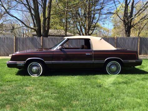 1982 Chrysler Lebaron 1982 Chrysler Lebaron Medallion Convertible Time Capsule