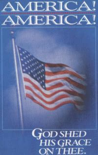 America America God Shed His by Christian Posters Bible Verse Posters Religious Posters