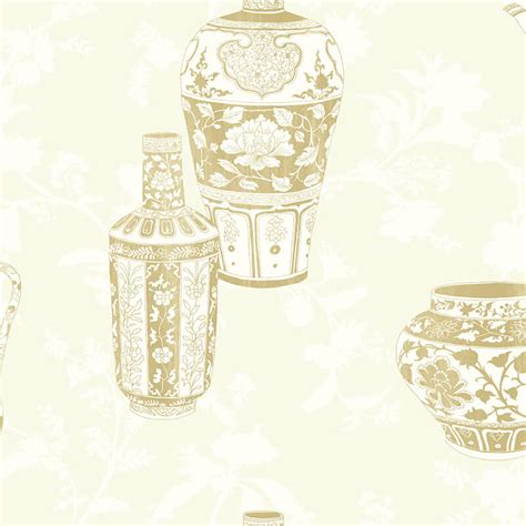 gold wallpaper sles nh11505 vases soft gold wallpaper senzai wallpaper